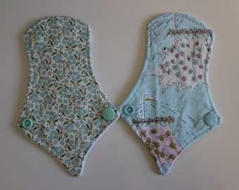 "set of two 6"" thong liners - forget me nots & singing in the shower"