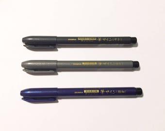 Zebra Brush Pens - medium, fine and extra fine tip