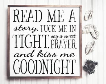 Kiss Me Goodnight Wood Sign, Nursery Decor, Baby Room, Kidu0027s Room Fixer  Upper, Farmhouse, Wood Sign Saying