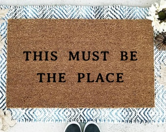 This Must Be The Place Doormat,  Flocked Coir Doormat, Talking Heads