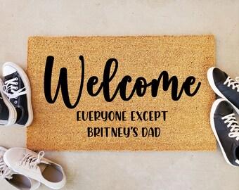 Welcome Everyone Except Britney's Dad Doormat, Welcome Everybody Except Britneys Dad Mat, Free Britney Doormat