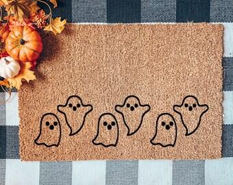 Ghost Doormat, Halloween Door mat, Flocked Coir Doormat, Boo doormat, Fall Doormat, Autumn Mat, Pumpkin Doormat, Spooky Doormat