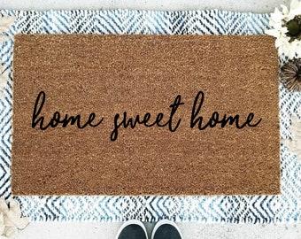 Home Sweet Home Doormat,  Flocked Coir Doormat,  Home Sweet Home    Home Sweet Home Mat,