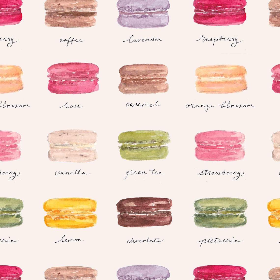 Wrapping Paper  Macarons Wrapping Paper Macaron flavors image 0