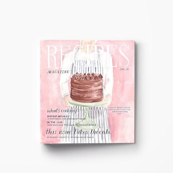 Recipe Binder Cute 3 Ring Binder Cookbook Binder Recipe