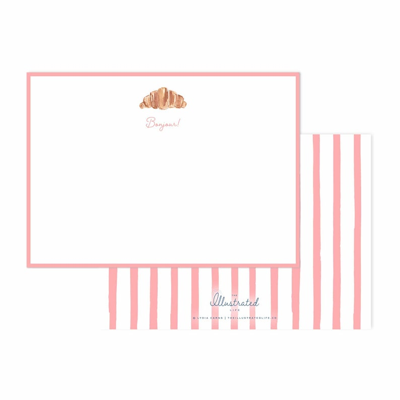 TIL x Wit & Whimsy Croissant Letterhead Stationery image 0