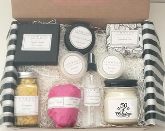 50th Birthday Gift For Women Best Friends Ideas Womens Gifts Her Spa Basket