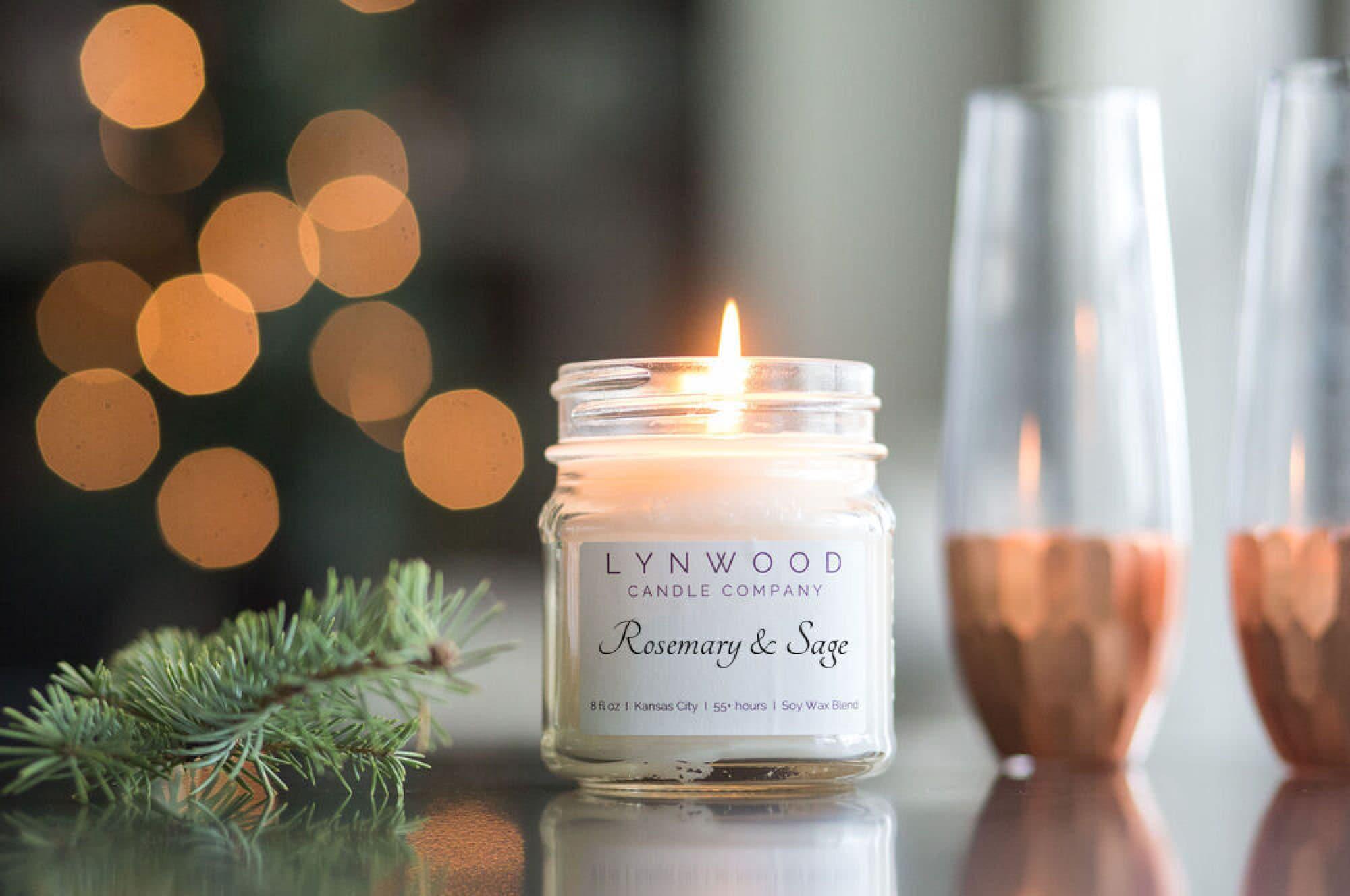 Christmas Candle Fragrance Festive Scented Secret Santa Stocking Filler Handmade