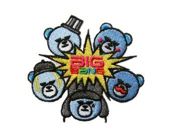 Bigbang Big Bang Kpop Logo Embroidered Applique Iron on Patch 7 cm. x 6.5 cm.