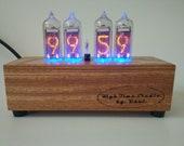 Nixie tube countdown timer alarm Escape room decor Vintage tube Solid wood body