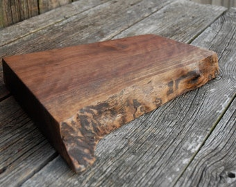 Live Edge Walnut Charcuterie Board New Years Eve Party Deli Tray Natural Wood Appetizer