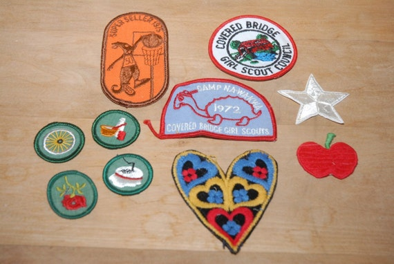 Vintage Girl Scout Badges, Girl Scout Patches, Mer