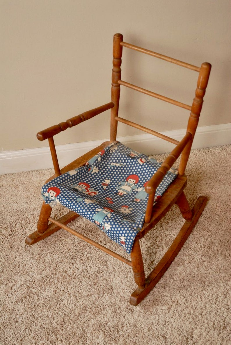 Excellent Childs Rocking Chair Raggedy Ann And Andy Rocking Chair Vintage Childs Rocker Antique Childs Chair Beatyapartments Chair Design Images Beatyapartmentscom