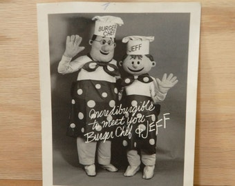 Burger Chef Photograph, Fast Food Photo, Promotional Advertising,American Icon