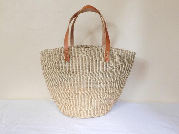 handwoven african bag, kiondo bag