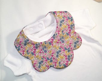 Petal and Bud X baby bib, Liberty of London baby bibs, Girls bib, Liberty Fabric, Autumn baby bib