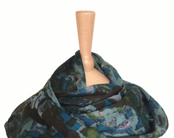 Infinity Scarves/Snood Blue/Loop Scarf/Green Grey Scarves/Sale Scarfs/Scarf/Neck Wrap/Scarf/AccessoryWomen/Infinity Loop Scarves/ Dark Green