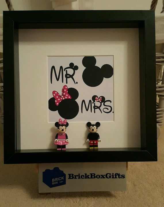 Disney Lego 3d Frame Mickey Minnie Mouse Donald Daisy Duck Etsy