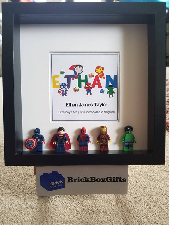 Iron Man Marvel 3D Minifigure Frame Proof Tony Stark has a heart End Game