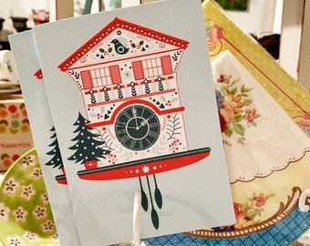 Swiss Cuckoo Clock greeting card