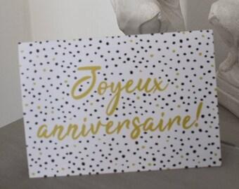 Joyeux Anniversaire greeting card