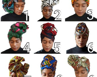 Ankara Head Wrap  Kente Head Wrap African Head Wrap Kente Head Wrap African Head Scarf Head Band Yoga Scarf Ankara Head Tie Hijab