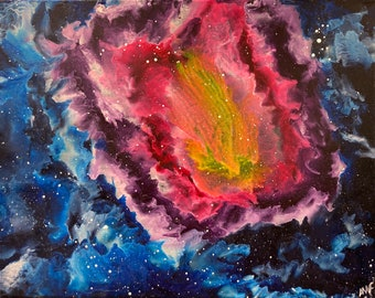 Butterfly Galaxy #2 - Photo Print of a Melted Crayon Painting
