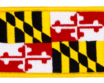 MD Travel Souvenir 216-I State Of Maryland Embroidered Iron On Patch