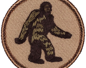 Bigfoot / Sasquatch Patch  2 Inch Diameter Embroidered Patch