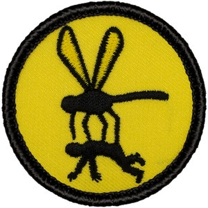 2 Inch Diameter Embroidered Patch Bean Dip Patch