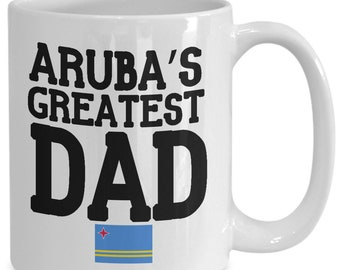 Aruba's greatest dad mug