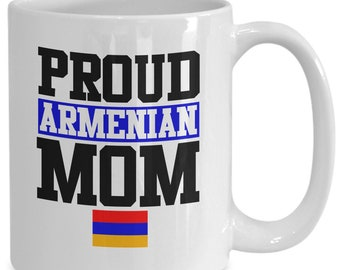 Proud armenian mom armenia flag mug