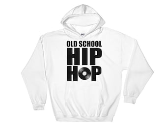 Old School Hip Hop Hooded Sweatshirt