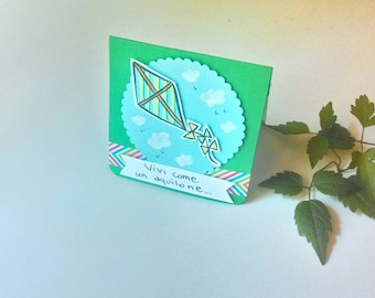 Birthday card - Kites