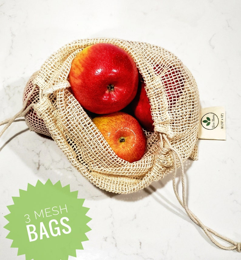 Eco-Friendly Laundry Bag Mother/'s Day Gift Grocery Bag Reusable Cotton Produce Bags 6 pcs Fruit Bag Snack Bags Vegetable Bag