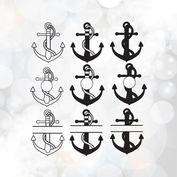 Anchor Svg Bundle Monogram Frame Clipart