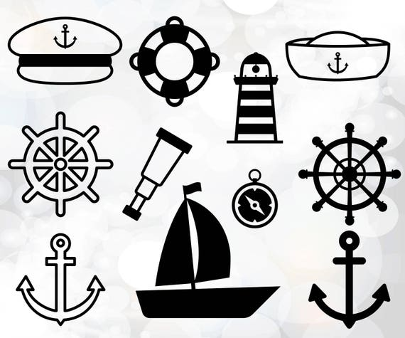 Nautical Svg Files Nautical Silhouette Svg Files For Cricut Etsy