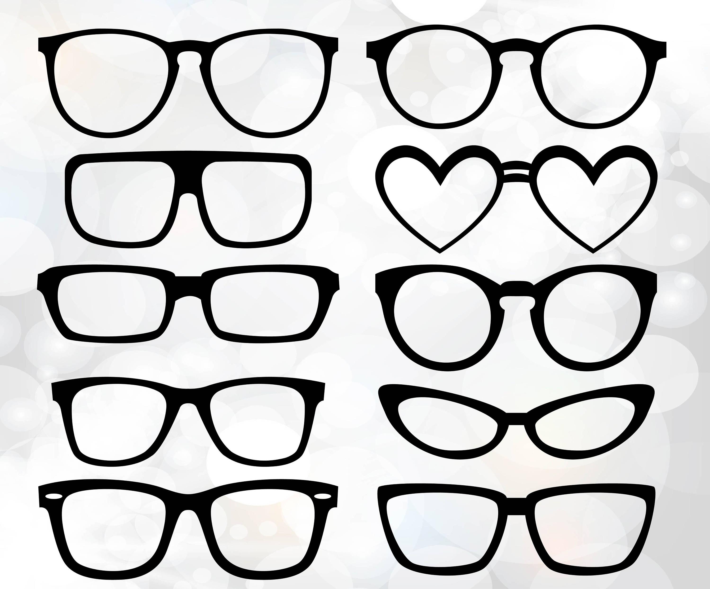Hipster Glasses Svg Glasses Bundle Party Props Glasses Etsy