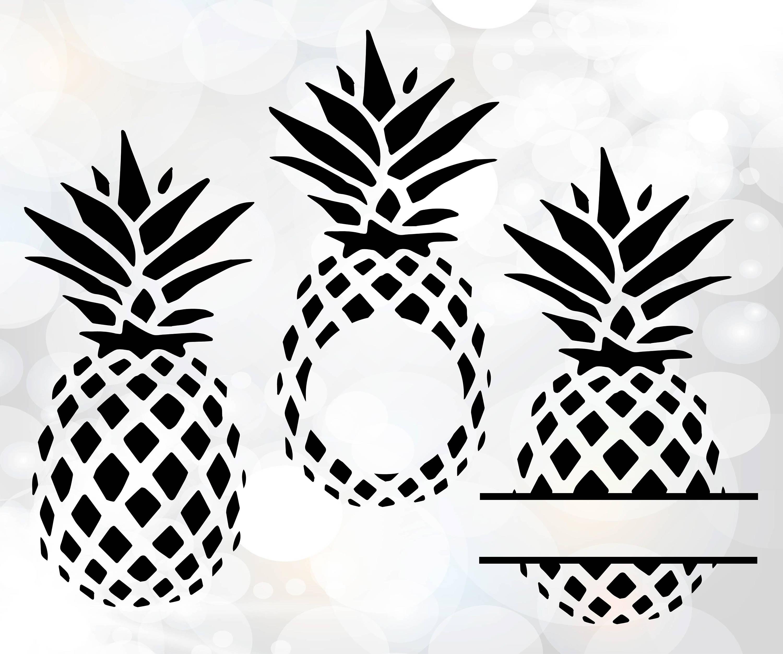 Download Pineapple SVG, Pineapple monogram frame, Split Frame ...
