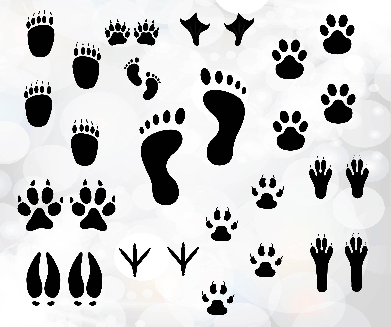 Impresión de archivos SVG SVG imágenes prediseñadas pata - pata ...