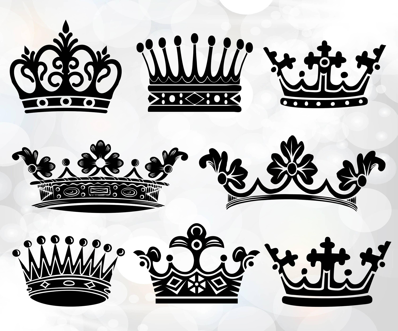 Corona Svg coronas Svg corona monograma rey y reina svg | Etsy