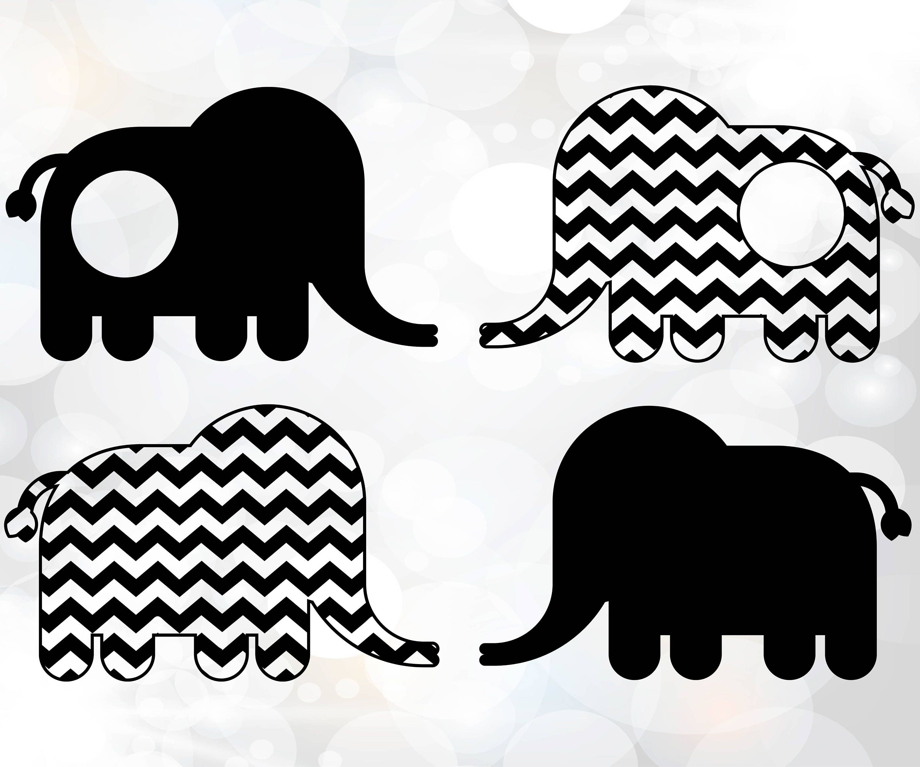 Download Elephant Monogram SVG Elephant Monogram SVG Cricut | Etsy