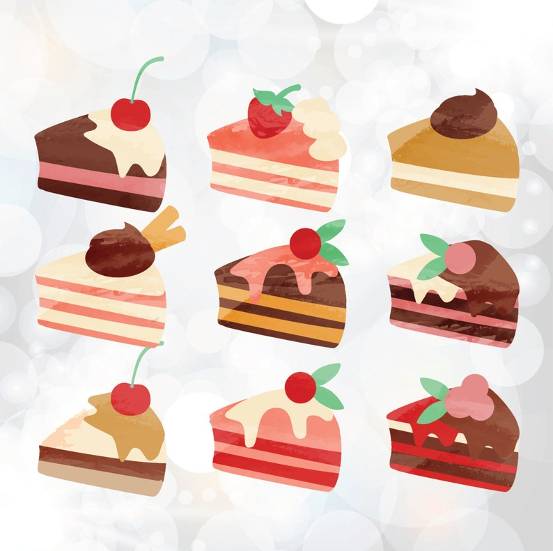 Cakes Svg Cutting File Piece Of Cake Clipart Birthday Cake Svg Files