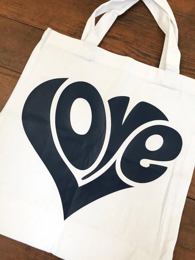 Custom  Love Canvas Tote