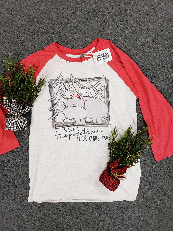 I Want a Hippopotamus For Christmas T-shirt   Etsy