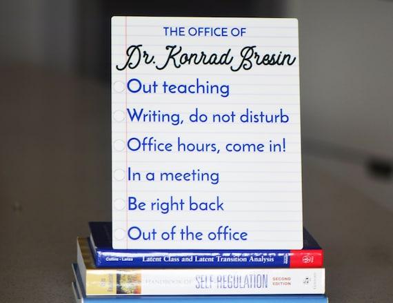 professor office door sign metal custom office door sign etsy