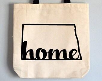 buy online 12e89 c9e35 North Dakota tote bag, State Tote Bag, Novelty Tote Bag, Home tote bag,  tote gift, North Dakota gift, state canvas bag, North Dakota bag