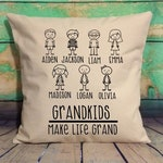 Custom Grandkids Pillow ,Personalized Pillow, Custom Pillowcase, Custom Throw Pillow, Decorative Pillow, Grandama Gift, Mothers Day Gift