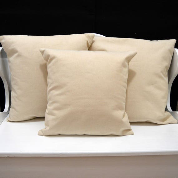Blank Canvas Pillow Cover HTV Blank Pillow Cover Natural Etsy Delectable Blank Pillow Covers Wholesale