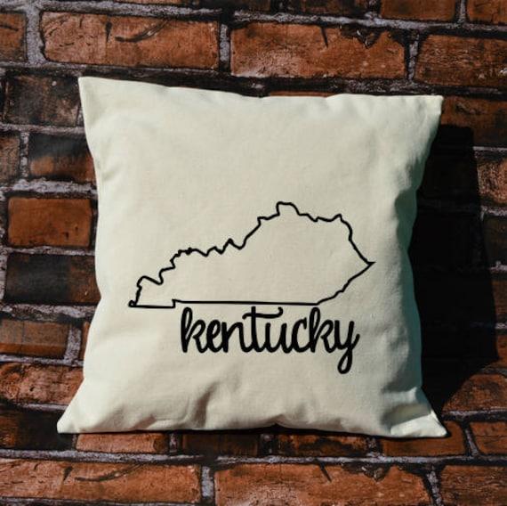 Kentucky Pillow Pillow Gift Kentucky Gift Decorative Etsy